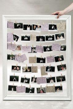 """DIY Hochzeit Gästebuch Bilderrahmen mit Polaroid Fotos, was ihr dafür benötigt und wie es funktioniert, erfahrt ihr unter """"Mehr""""!"""