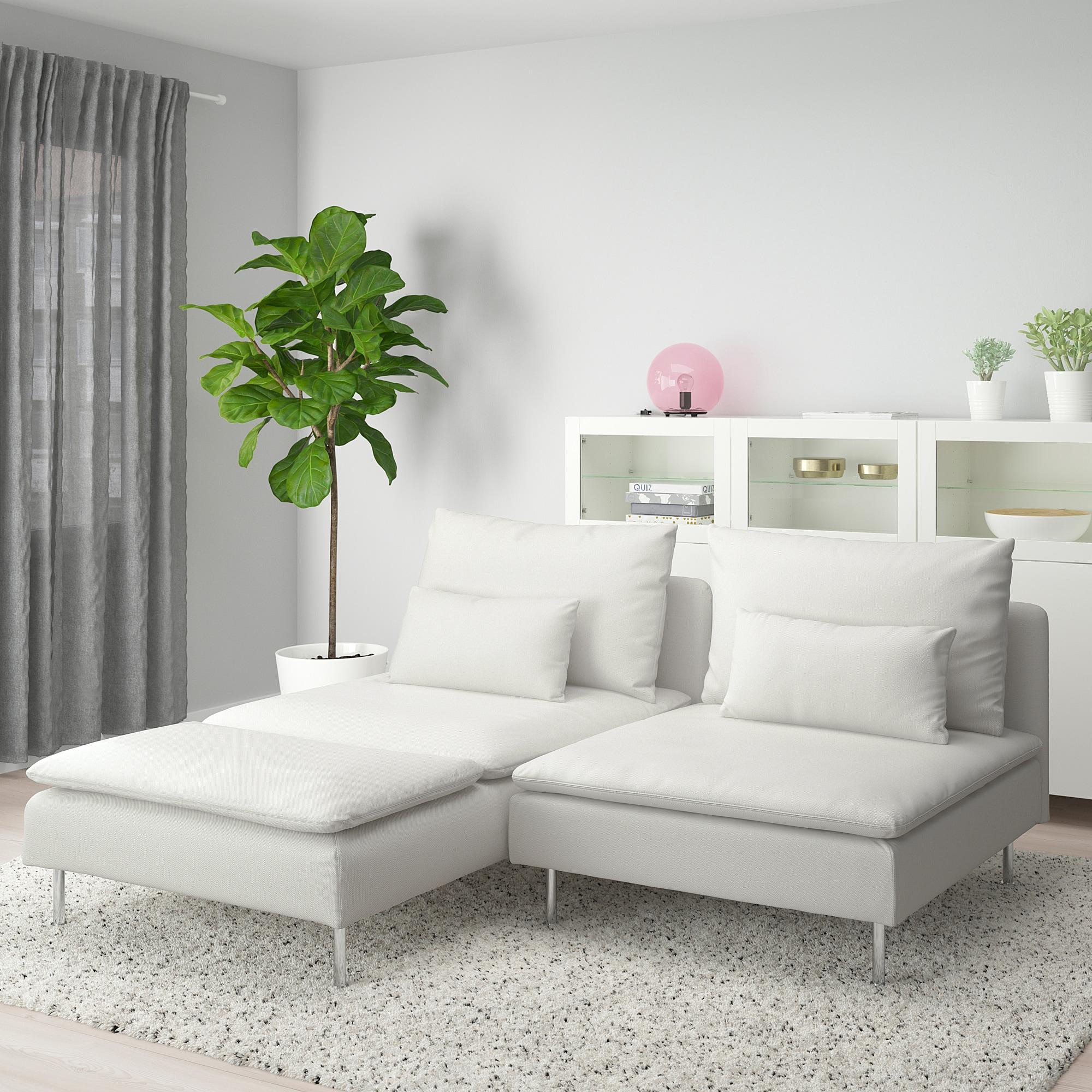 Soderhamn Loveseat With Chaise Finnsta White Ikea 2er Sofa Recamiere Kleines Sofa