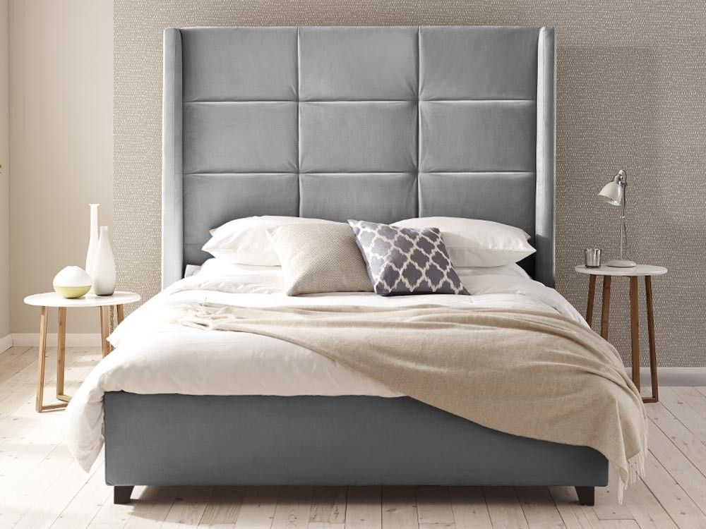 Harold Upholstered Bed - With its huge winged headboard featuring ...