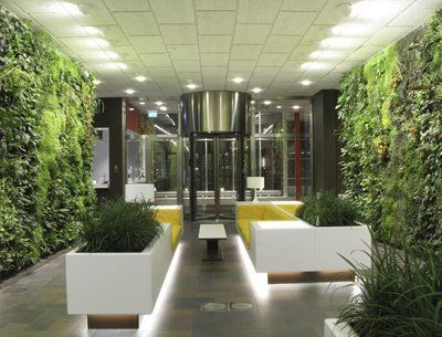 interior landscaping office. Take A Look At This Vertical Garden In AstraZeneca\u0027s Office Sweden Designed By Michael Hellgren: Interior Landscaping