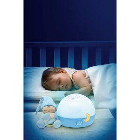 Proyector con efecto de luces y melod/ías color azul Chicco Buenas Noches Estrellitas