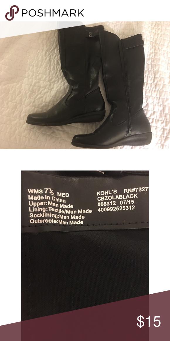 Kohl's black riding boots Black riding