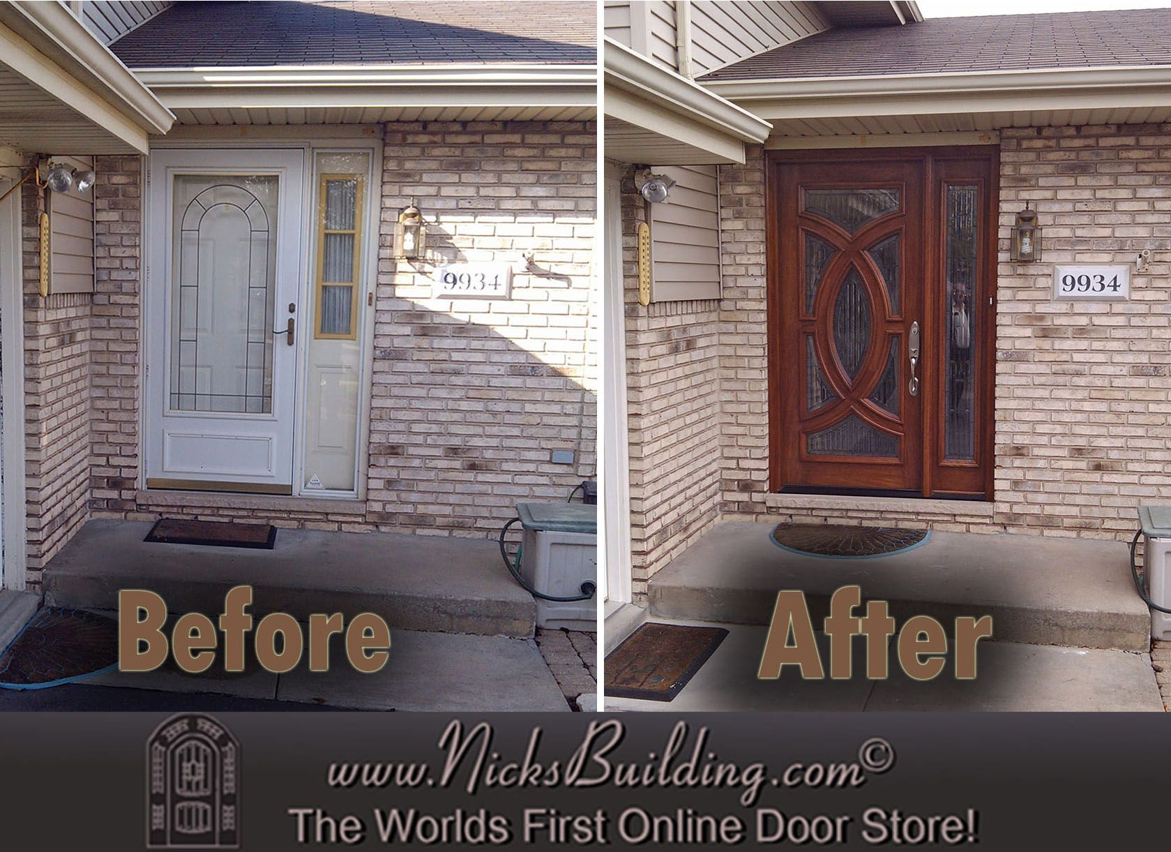 Front Door Before After Look At The Amazing Difference That A