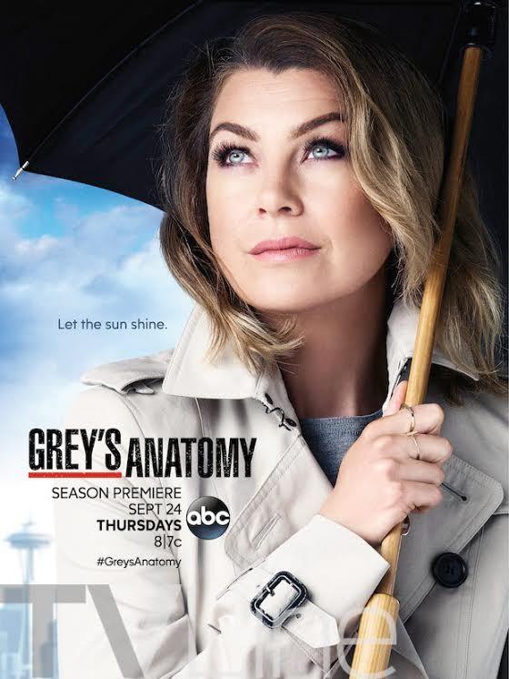 Grey S Anatomy Season 12 Poster Sunny Forecast For Widow Meredith