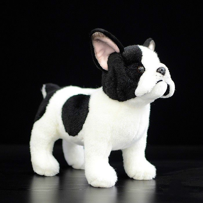 Cute Standing Dog Stuffed Doll Simulation French Bulldog Plush Toy