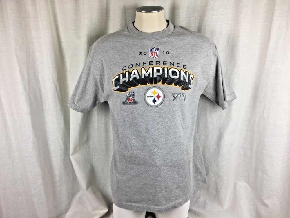 Pittsburgh Steelers NFL Men s Short Sleeve T-Shirt Size Gray Champions Size  L  PittsburghSteelers 5b8827e77