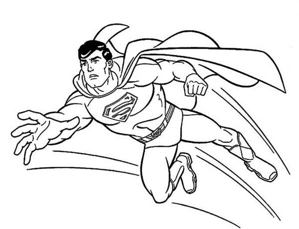 The new adventures of superman coloring page line art for Free coloring pages superman