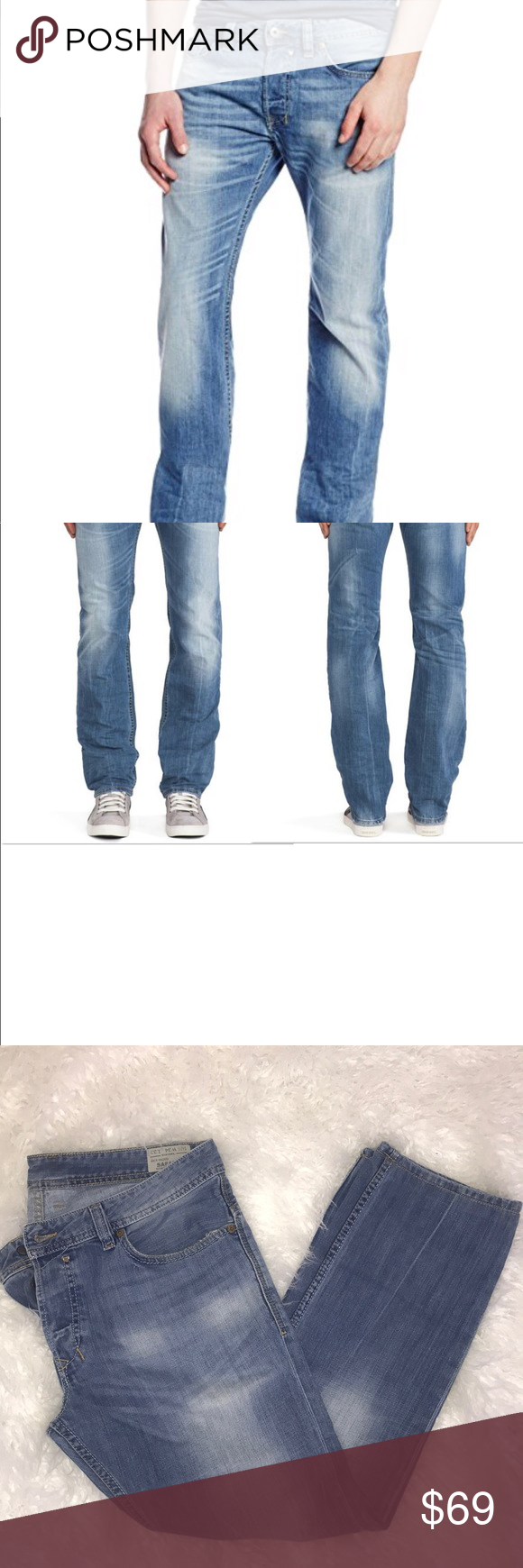 97925c91 Diesel Safari Reg. Slim Straight Diesel Safado Jeans. These are in light  wash 0826D
