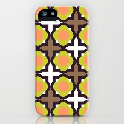 Grid Style in Pink Green Brown Art Print Wall Decoration ...