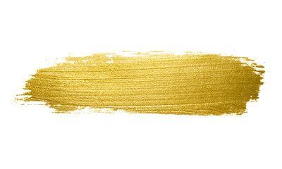 Gold Paint Brush Stroke Gold Paint Brush Background Brush Strokes