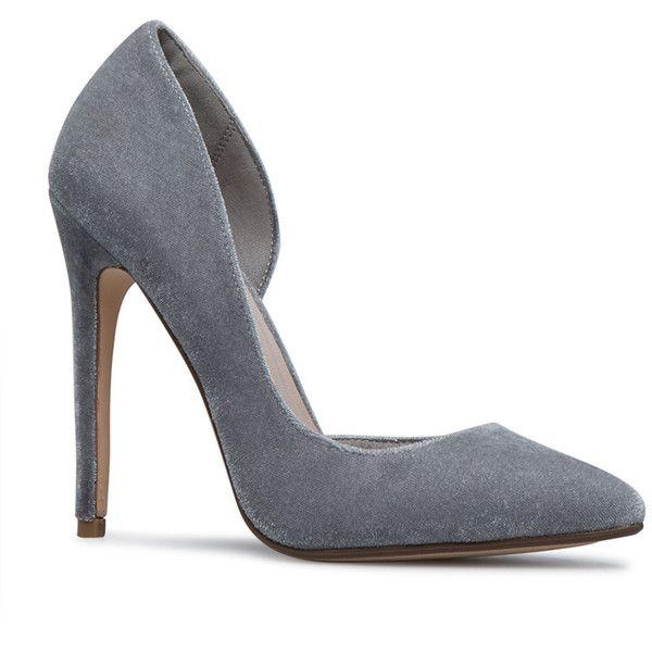 0b43e968c0bc ShoeDazzle Pumps Deetra Pump Womens Gray ❤ liked on Polyvore featuring shoes