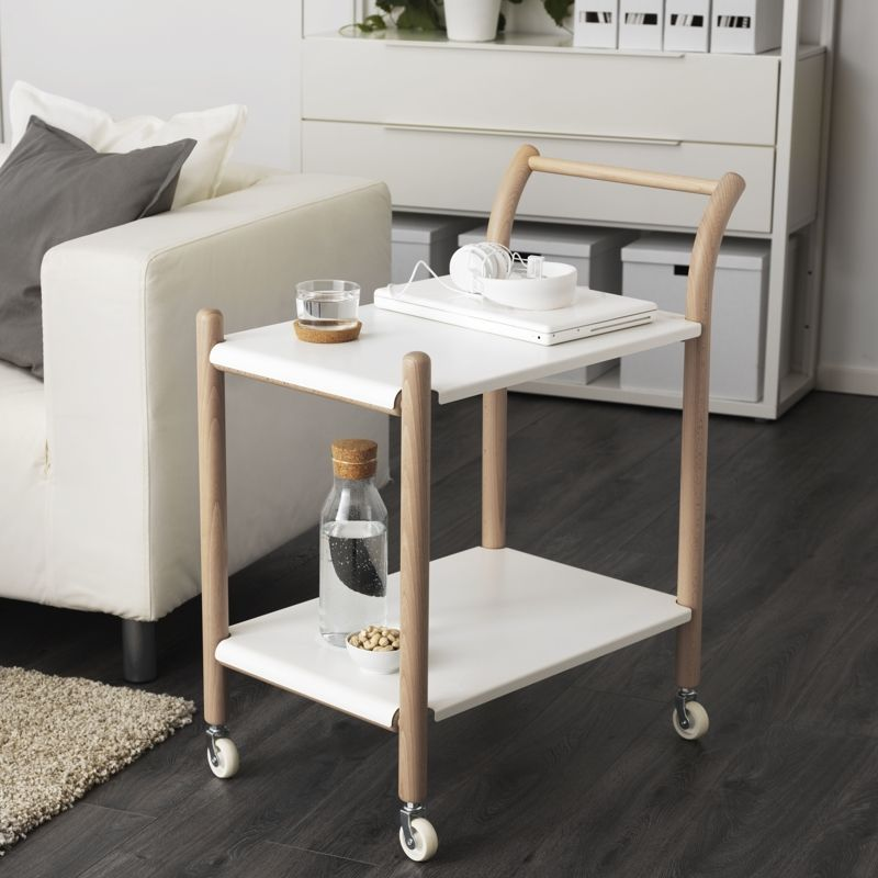 ikea ps 2017 side table on castors - Kitchen Side Tables