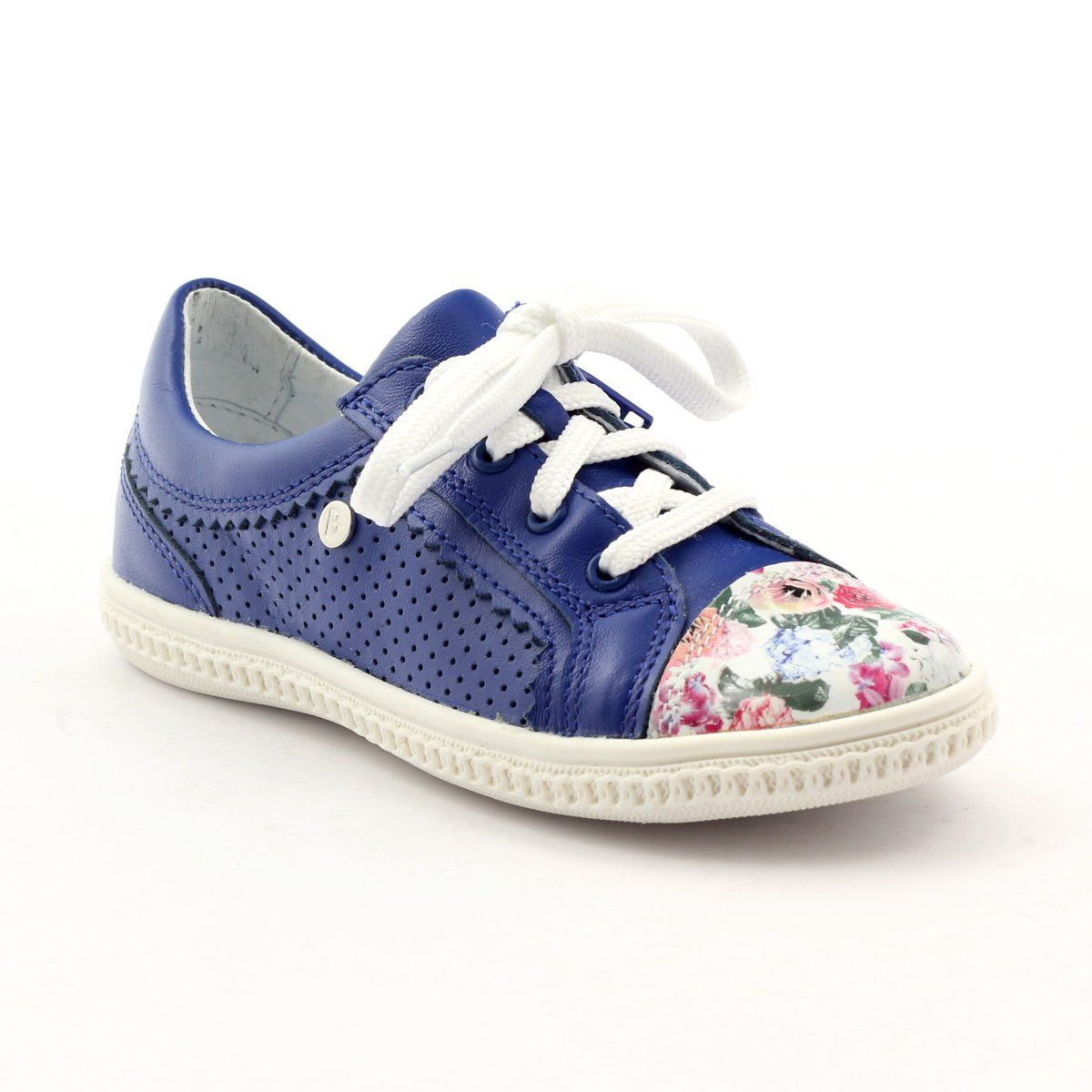 Girls Low Shoes Flowers Bartek 15524 White Violet Blue Pink Green Girls Shoes Childrens Shoes Kid Shoes