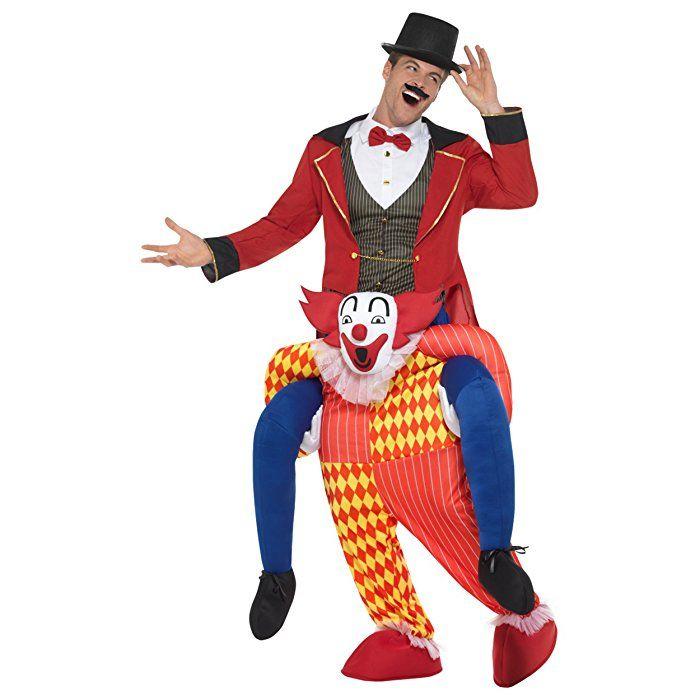Oramics Halloween Horror Clown Kostum Huckepack Piggyback