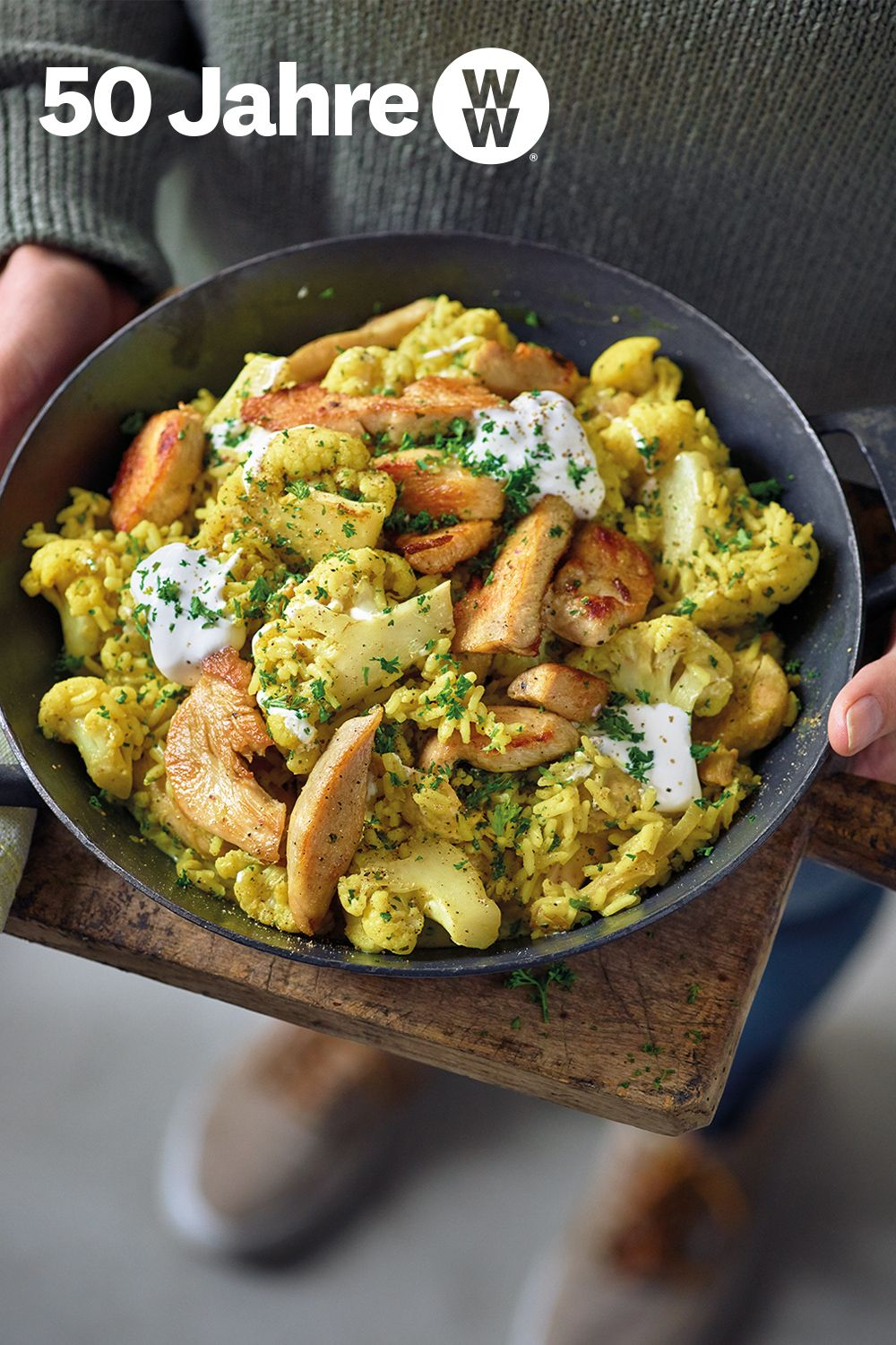 Photo of Curry rice pan with chicken breast
