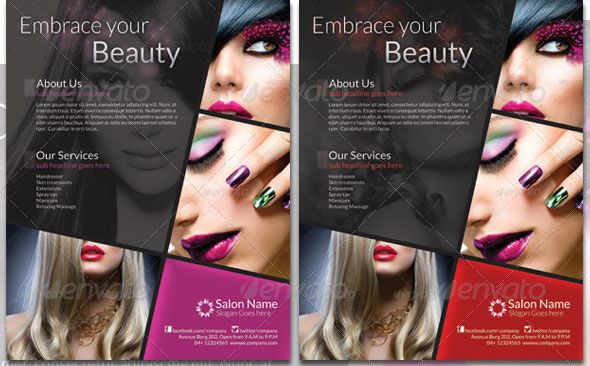 Beauty Salon Flyer Template Beauty Salon A Flyer Hair Salon Flyers