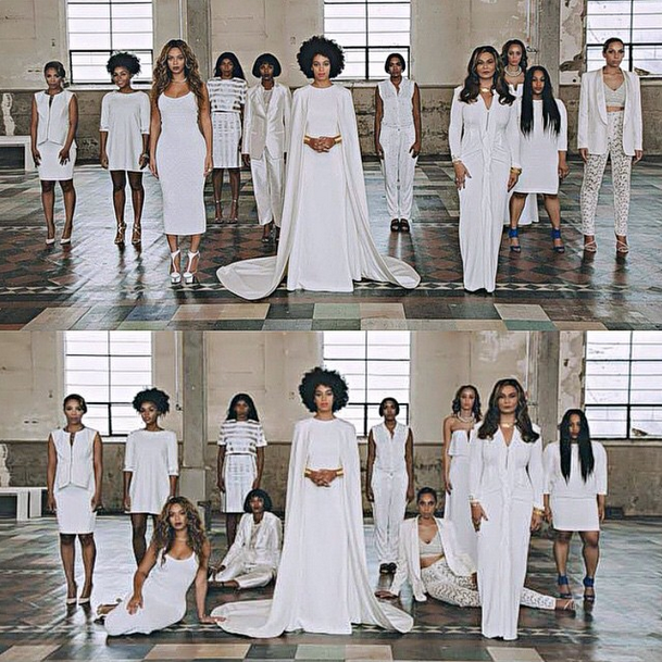 Did Kim Kardashian Just Try To Recreate Solange Knowles Wedding Photos Thefashionspot In 2020 Solange Wedding Solange Knowles Wedding All White Wedding