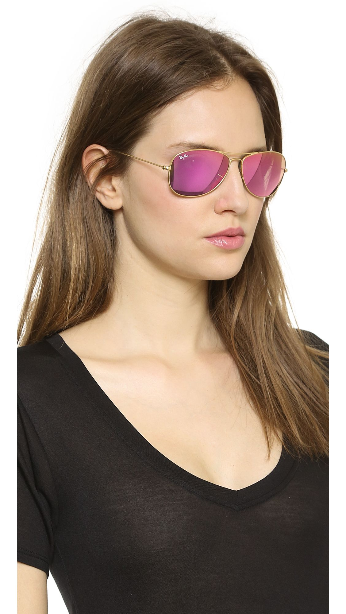 cc63a271a4 Ray-ban Polarized Aviator Sunglasses Crystal Pink in Pink (CRYSTAL PINK)