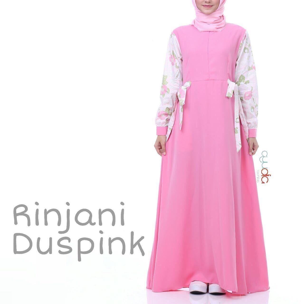 Gamis Ayudia Rinjani Duspink - baju muslim wanita baju muslimah Untukmu  yang cantik syari dan trendy eff070a9dd