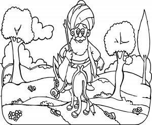 Nasreddin Hoca Eşeğine Ters Binmiş Gidiyor Sayfa Boyama Sketches