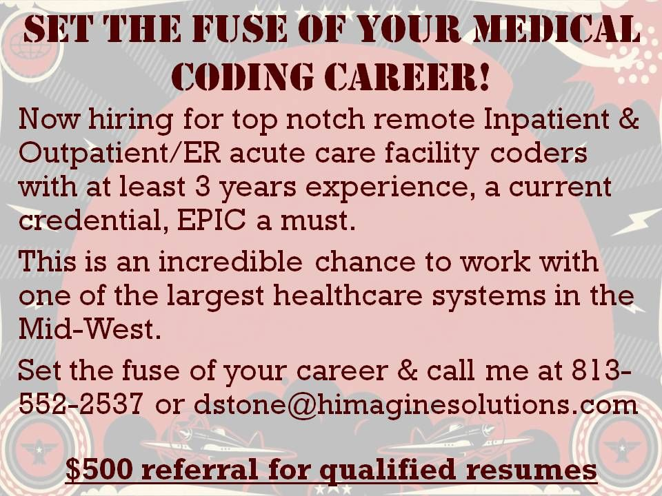 Set The Fuse Of Your Medical Coding Career  Medical Coding Jobs