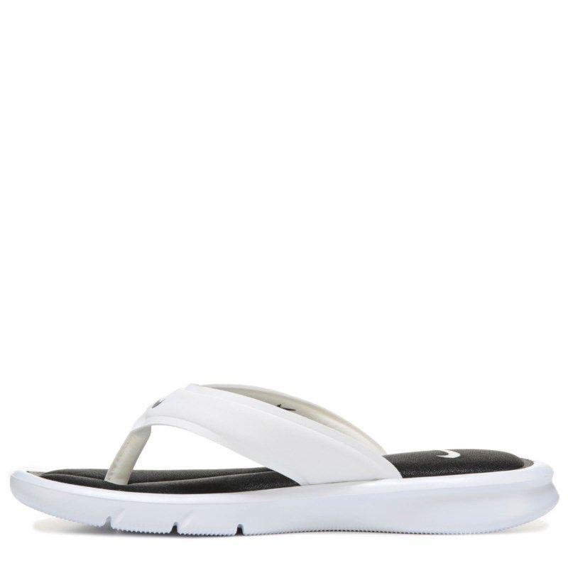 5848afe3bae8 Nike Women s Ultra Comfort Thong Sandals (White Black White) - 11.0 M