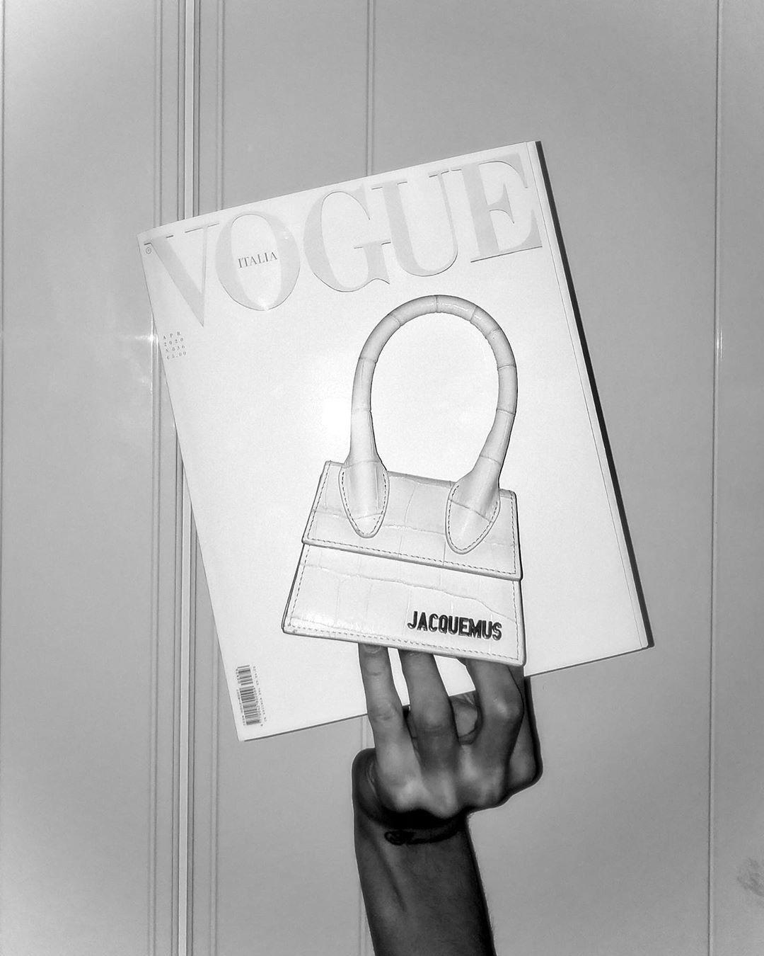 """Gianluca Rispoli on Instagram: """"cover girl -  @vogueitalia  #whitecanvas  #jacquemusathome #vogueitalia #voguecover #love #jacquemus"""