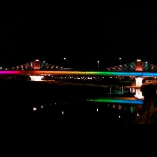 강원도 강릉시 성덕동과 포남동을 잇는 포남대교의 멋진 야경