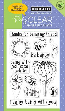Be Happy - Clear Rubber Stamps