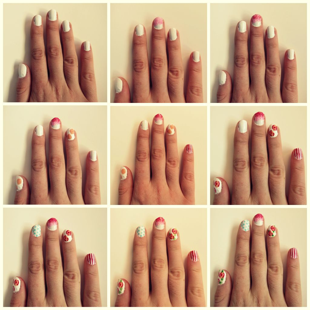 islaay uk beauty fashion and nail art blog cath kidston how to do nail art - Nail Designs Do It Yourself At Home