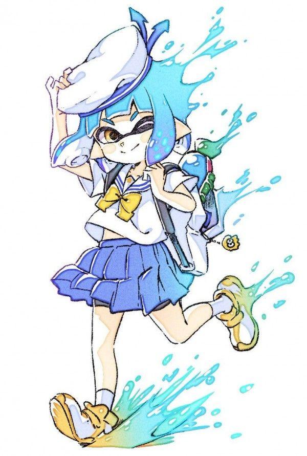 Splatoon Sailor Dessin Comamawa Jeuxvideo Inkling Dessin