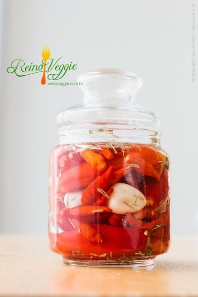 Conserva de Pimenta na Pinga   Receita