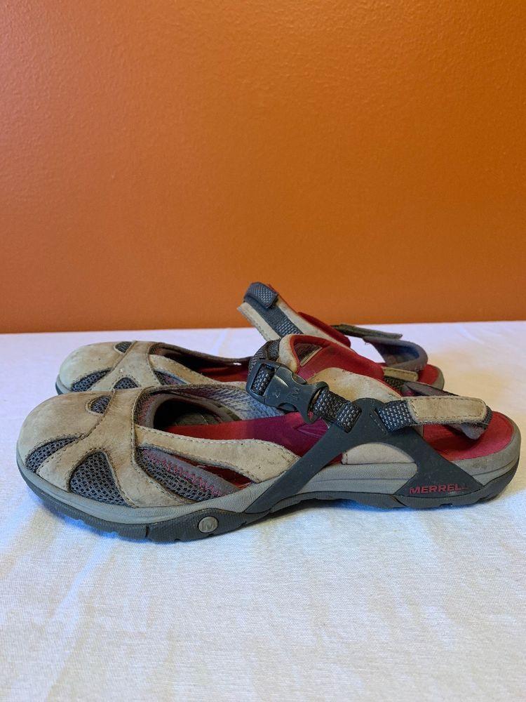 Sport Hiking Sandals Suede Tan EUC