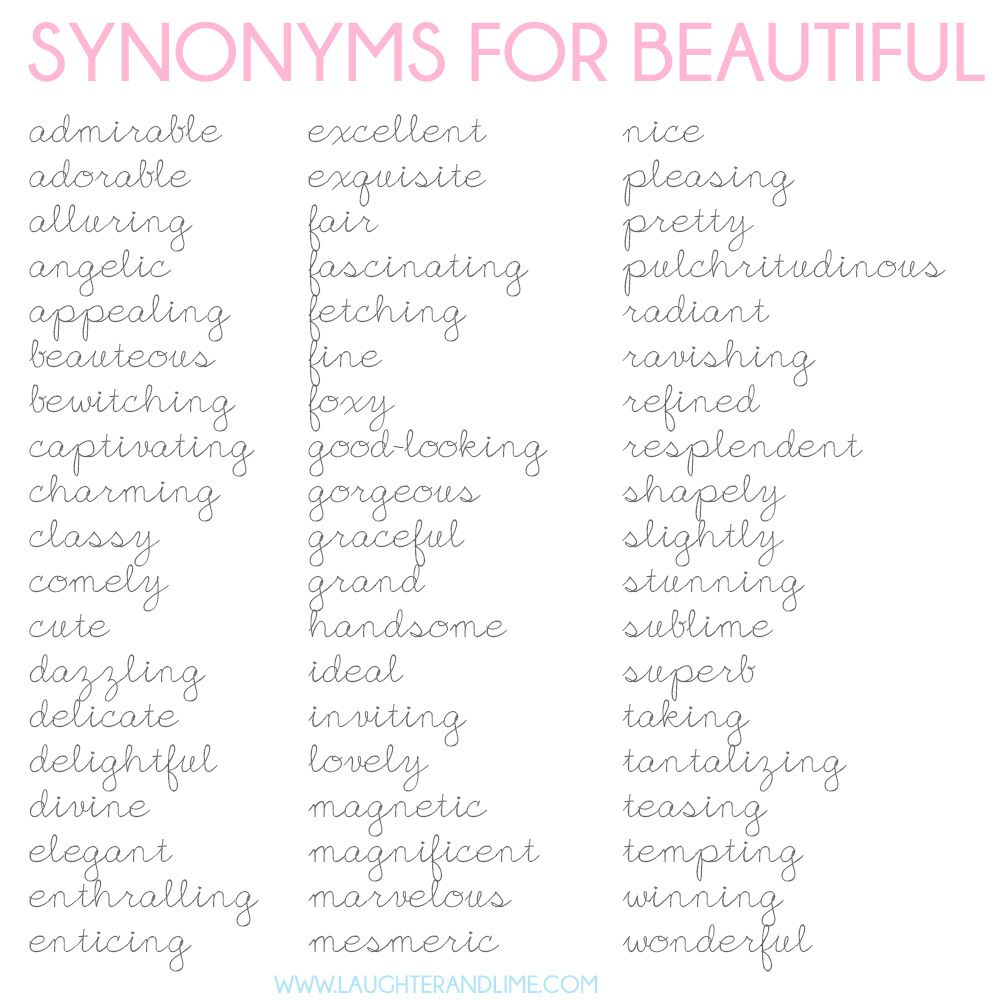 Beautiful Synonyms 33
