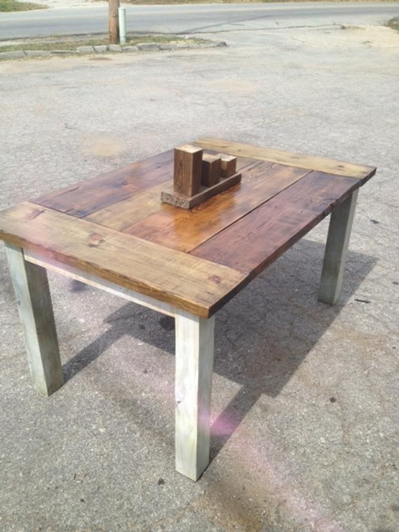 Farmhouse Table The Country Grammar Table Etsy Farmhouse Table Rustic Kitchen Tables Square Farmhouse Table