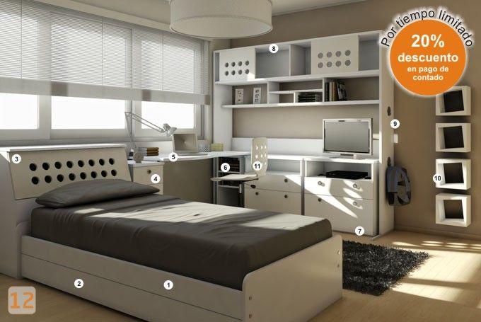 Dormitorio muebles juveniles jovenes camas marineras - Dormitorios juveniles chicos ...