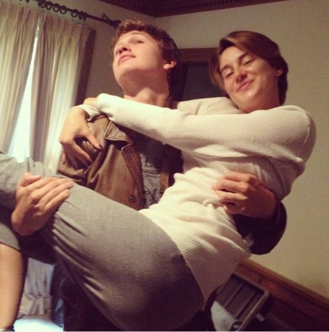 Shailene and Ansel on set of The Fault in Our Stars