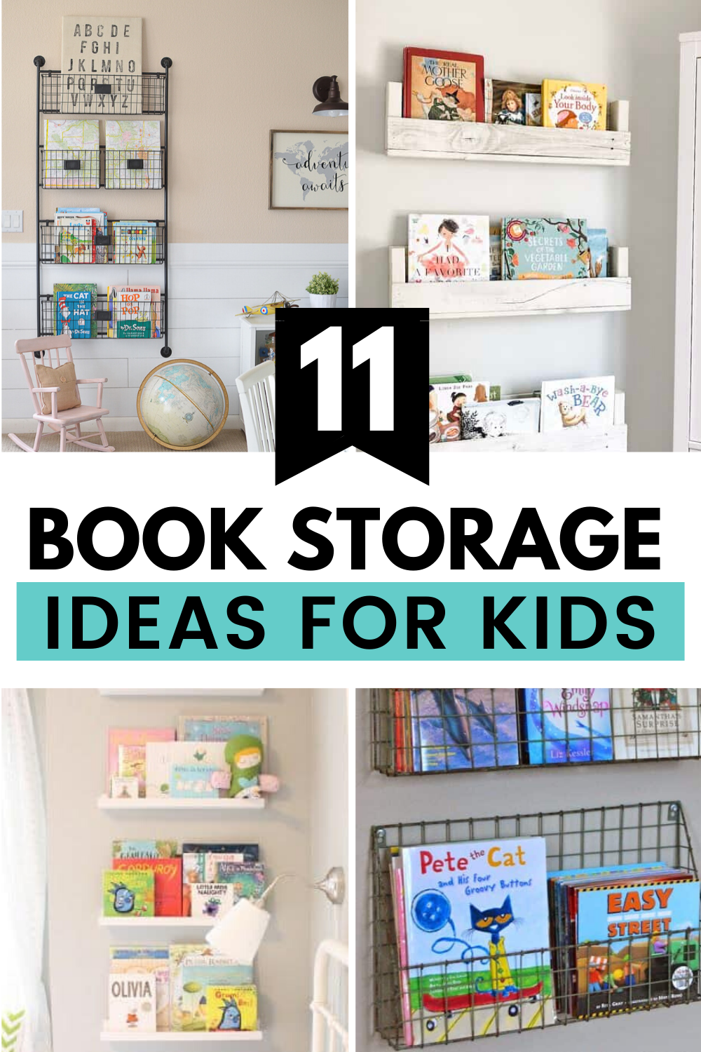 11 Clever Book Storage Ideas For Kids Mommyhooding Kids Storage Kids Book Storage Toy Room Storage