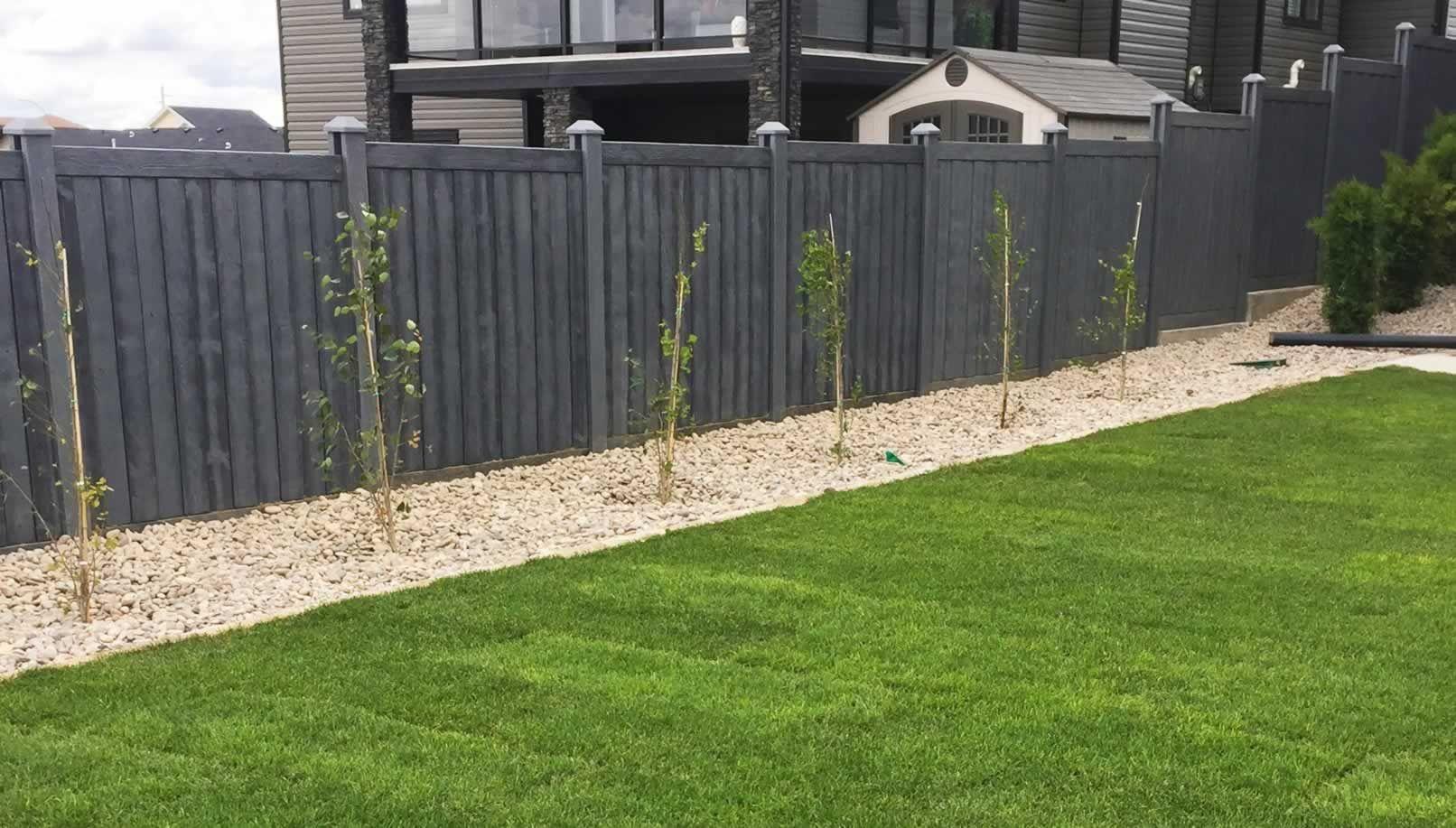 Black Oak Vinyl Wood Fencing Wooden Fence Fence Design Wood Fence