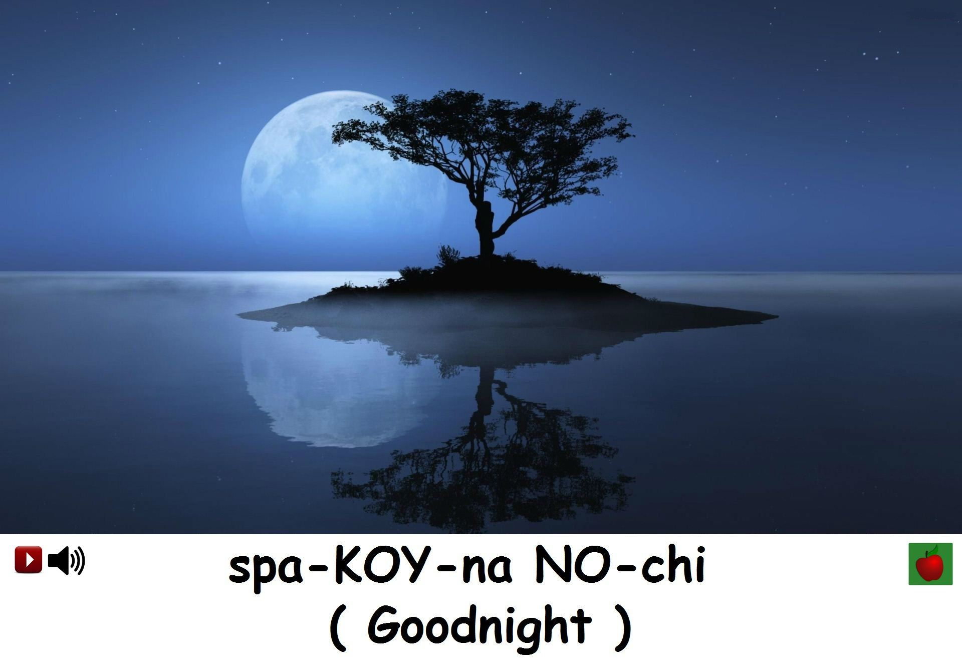 How To Say Goodnight In Russian Russian Language Moon Over