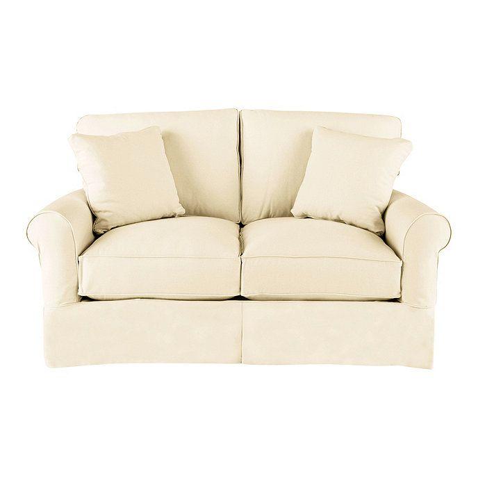 Wondrous Ballard Baldwin Loveseat Slipcover 67W X 42D X 37H In Machost Co Dining Chair Design Ideas Machostcouk