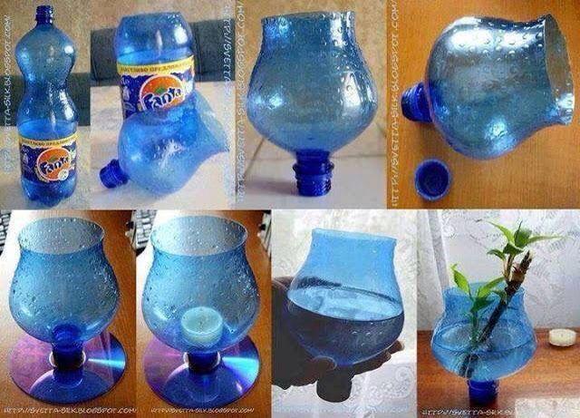 Recycler une bouteille et fabriquer une vase   pin folder