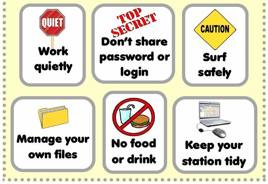 Computer Lab Rules Poster Stem Pinterest Computer Lab