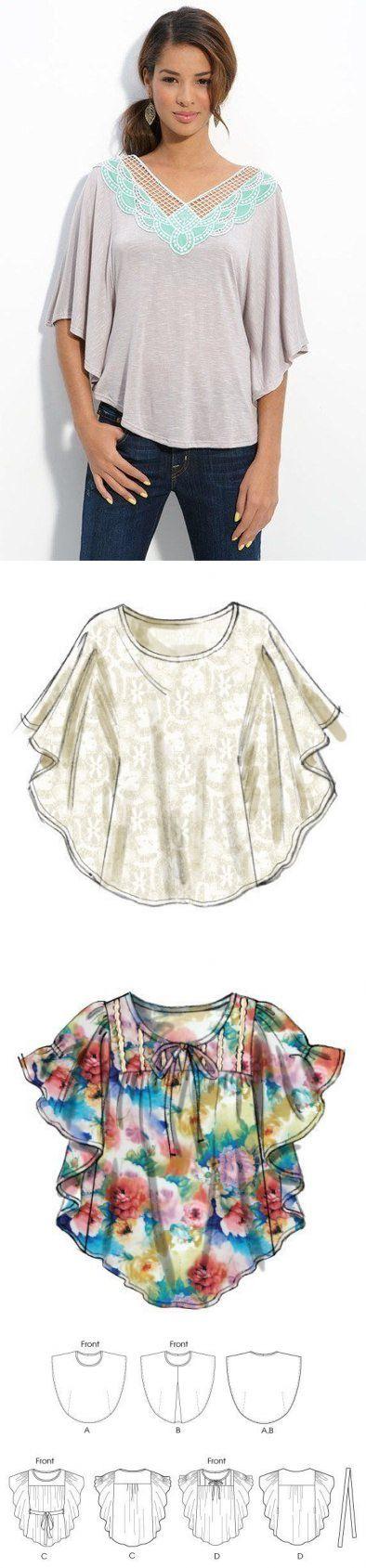 Puedes coser la túnica fácil.   Выкройки   Pinterest   Túnicas ...