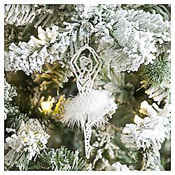 Weiste Glitter White Ballerina Christmas Tree Decoration