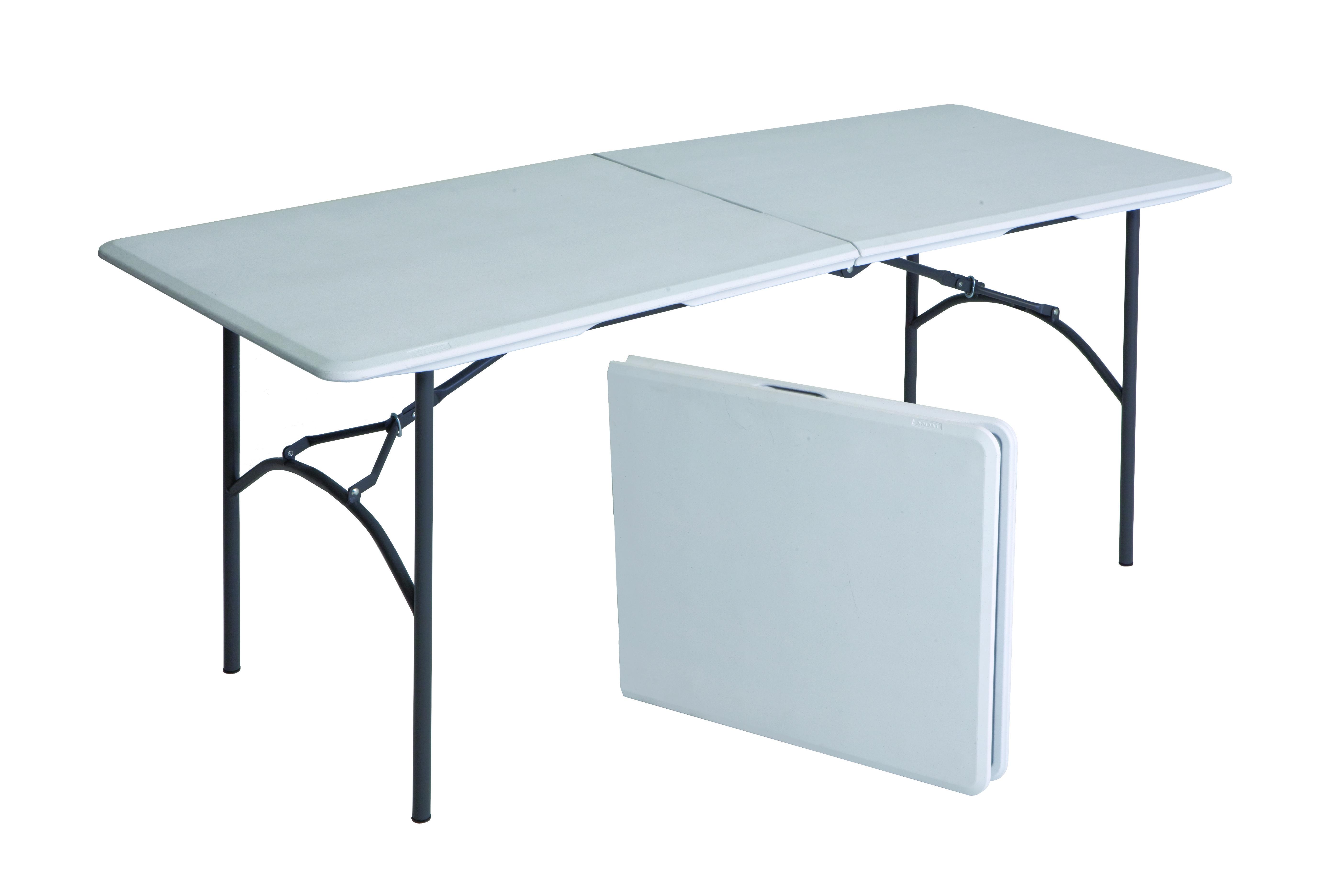 Marquee 183 X 76 X 73 Steel Bi Fold Blow Mould Table Bunnings