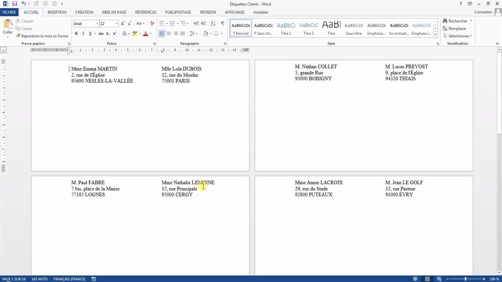 Tutoriel vid o pour apprendre cr er et imprimer des - Ouvrir fichier works avec open office ...