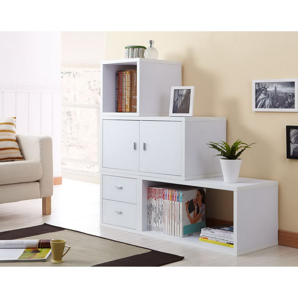 Allure Modular Storage Cabinet in White (Set of 4 ) | Overstock.com ...