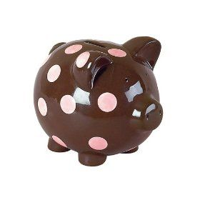 such a cute piggy bank for baby's room!