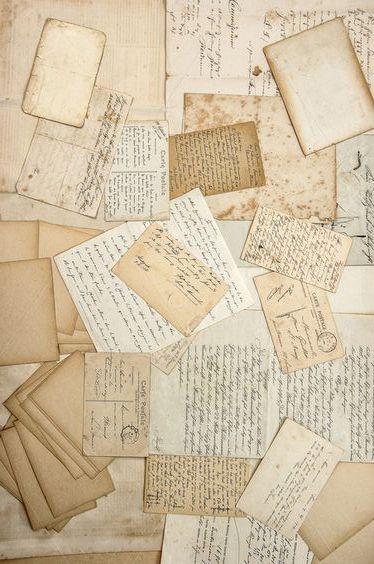 Old Handwritings Vintage Postcards Vintage Scrapbook Paper Vintage Scrapbook Vintage Postcards